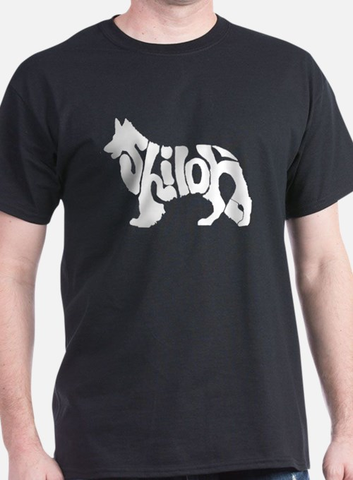 White shiloh word T-Shirt