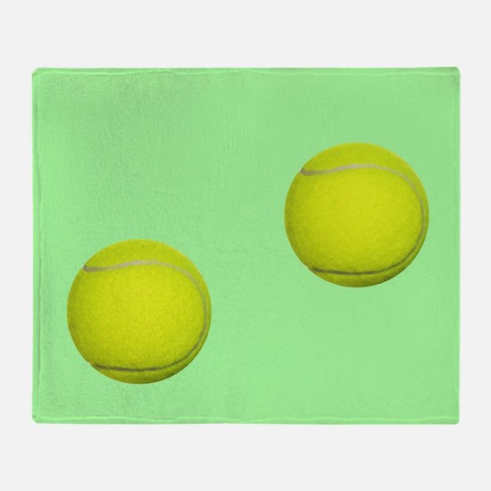 Tennis Ball Sport Throw Blanket
