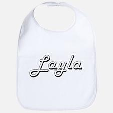 Layla Classic Retro Name Design Bib