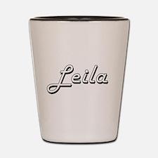Leila Classic Retro Name Design Shot Glass
