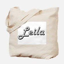 Leila Classic Retro Name Design Tote Bag