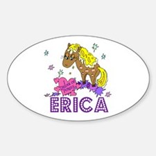 I Dream Of Ponies Erica Oval Decal