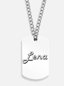 Lena Classic Retro Name Design Dog Tags