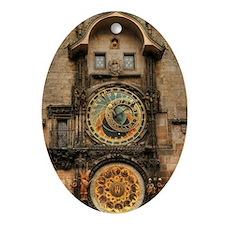 Astronomical Clock Oval Ornament
