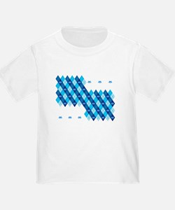 Space Intruders Argyle Pattern T-Shirt