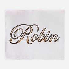Gold Robin Throw Blanket