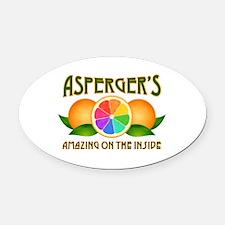 Asperger's Amazing Oranges Oval Car Magnet