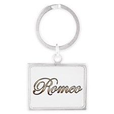 Gold Romeo Keychains