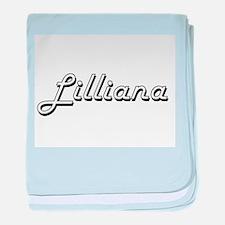Lilliana Classic Retro Name Design baby blanket