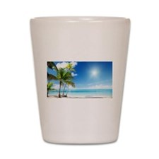 Paradise Corner Shot Glass