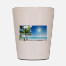Paradise Corner Shot Glass