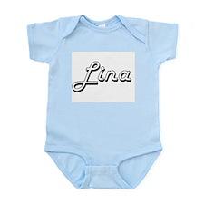 Lina Classic Retro Name Design Body Suit