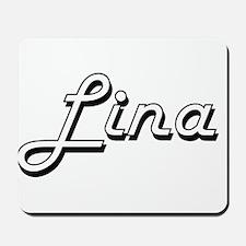 Lina Classic Retro Name Design Mousepad