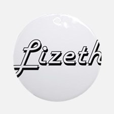 Lizeth Classic Retro Name Design Ornament (Round)