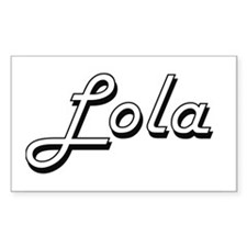 Lola Classic Retro Name Design Decal