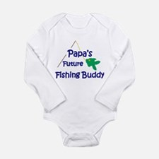 Papa's Future Fishing Buddy Body Suit