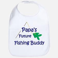 Papa's Future Fishing Buddy Bib