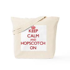 Keep Calm and Hopscotch ON Tote Bag