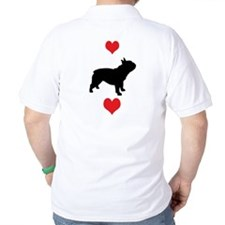 French Bulldog Red Hearts T-Shirt