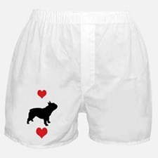 French Bulldog Red Hearts Boxer Shorts