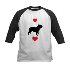 French Bulldog Red Hearts Tee