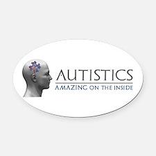 Autistics Amazing Head Oval Car Magnet