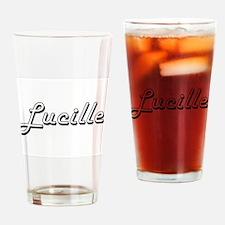 Lucille Classic Retro Name Design Drinking Glass