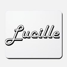 Lucille Classic Retro Name Design Mousepad