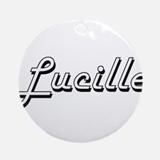 Lucille Classic Retro Name Design Ornament (Round)