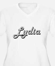 Lydia Classic Retro Name Design Plus Size T-Shirt