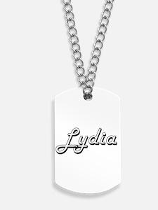 Lydia Classic Retro Name Design Dog Tags