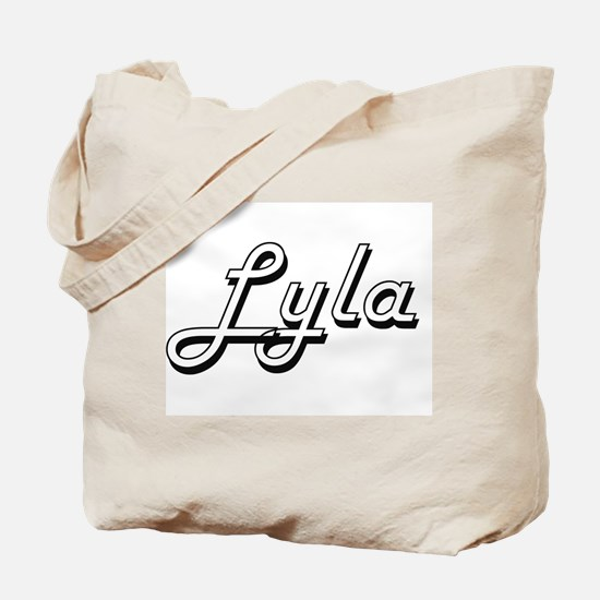 Lyla Classic Retro Name Design Tote Bag