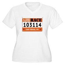 A Very Clever Race Bib Plus Size T-Shirt