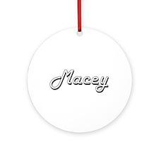Macey Classic Retro Name Design Ornament (Round)