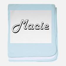 Macie Classic Retro Name Design baby blanket