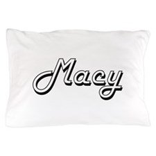 Macy Classic Retro Name Design Pillow Case