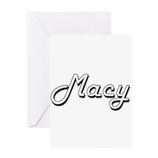 Macy Classic Retro Name Design Greeting Cards