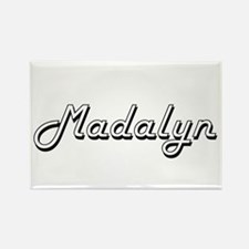 Madalyn Classic Retro Name Design Magnets