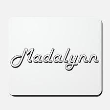 Madalynn Classic Retro Name Design Mousepad