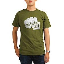 Nerd Knuckle Tattoo (Distressed) T-Shirt