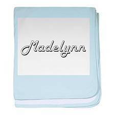Madelynn Classic Retro Name Design baby blanket