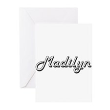 Madilyn Classic Retro Name Design Greeting Cards