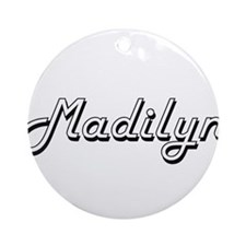 Madilyn Classic Retro Name Design Ornament (Round)