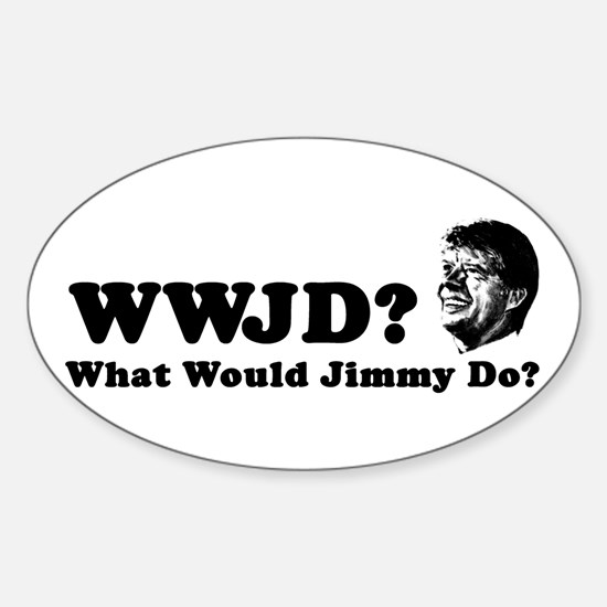 What Would Jimmy Do? Oval Decal