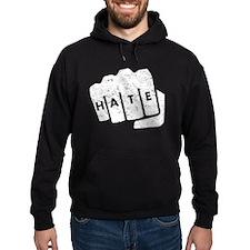 Hate Knuckle Tattoo (Distressed) Hoodie