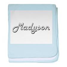 Madyson Classic Retro Name Design baby blanket