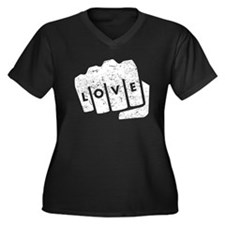 Love Knuckle Tattoo (Distressed) Plus Size T-Shirt