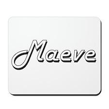 Maeve Classic Retro Name Design Mousepad
