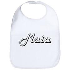 Maia Classic Retro Name Design Bib
