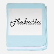 Makaila Classic Retro Name Design baby blanket